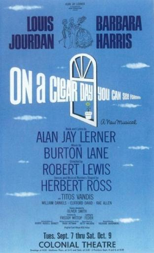 On A Clear Day You Can See Forever (Broadway) Movie Poster (11 x 17)