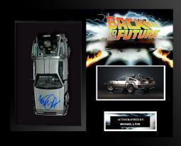 Delorean Back to the Future - Signed by Michael J. Fox