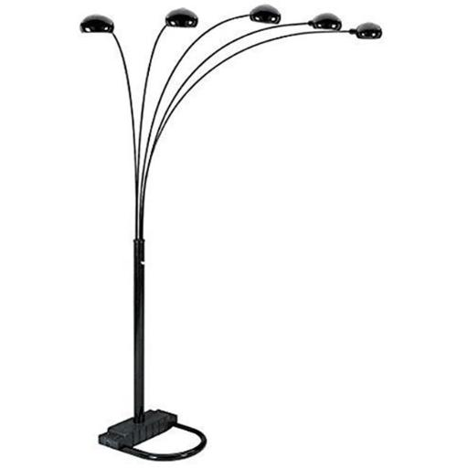 Q-Max 6962BK Beautiful Modern Floor Lamp - Black
