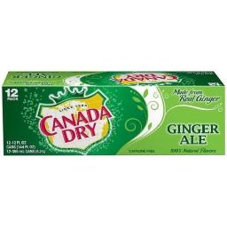 Canada Dry Ginger Ale Soda 12 Pack of Cans
