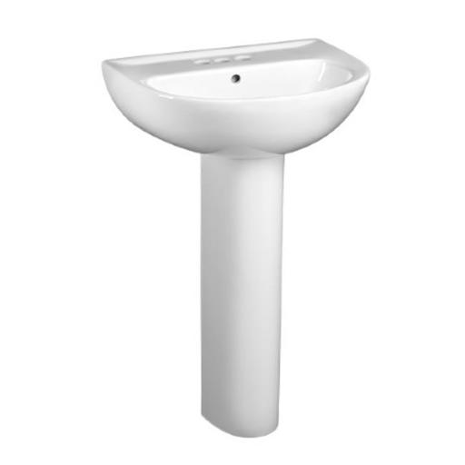 American Standard 0468001.020 Evolution 24 in. Pedestal Lavatory Sink - White