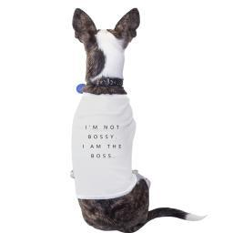 I'm the Boss Cotton Pet Shirt White Small Dogs Clothes