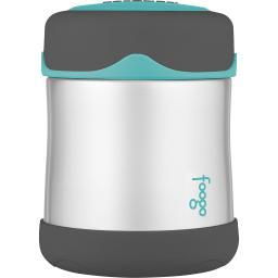 THERMOS FOOGO VACUUM INSULATED FOOD JAR 10OZ TEAL/SMOKE