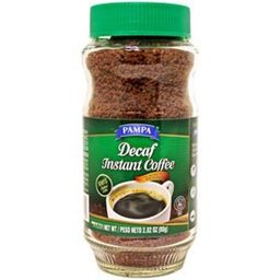 Pampa Decaf Instant Coffee Glass  2.82 oz (Pack of 4)