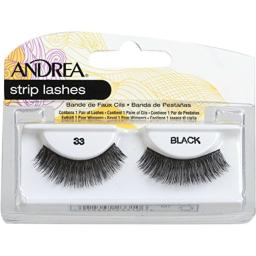 Andrea Strip Lashes, Black [33] 1 pair (Pack of 3)