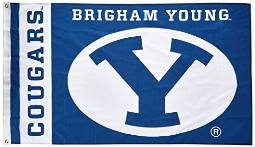 BSI NCAA College Brigham Young Cougars 3 X 5 Foot Flag with Grommets