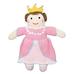 Zubels Baby Girls? Milly The Princess Hand-Knit Rattle Toy, All-Natural Fibers, Eco-Friendly, 7-Inch