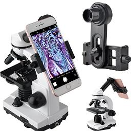 Gosky Microscope Lens Adapter, Microscope Smartphone Camera Adaptor  For Microscope Eyepiece Tube 232Mm, Builtin Wf 16Mm Eyepiece  Capture And Record The Beauty In The Micro World