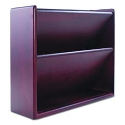 Carver 09623 Hardwood Double Wall File, Letter, Two Pocket, Mahogany