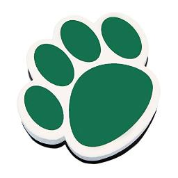 ASHLEY PRODUCTIONS Paw Magnetic Whiteboard Eraser, Green