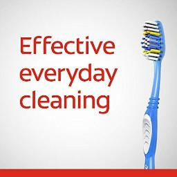 colgate Extra clean Full Head Toothbrush, Medium - 3 count (Pack of 1)