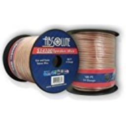 Absolute S14100 100-Feet 14 Gauge Car and Home Stereo Clear Speaker Wire