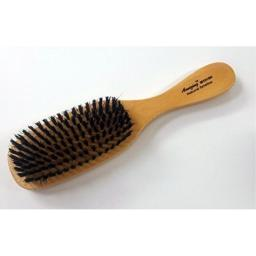 Amazing Natural Hard Bristle Brush (Wooden With Black Bristles) For Everyday Hair Grooming