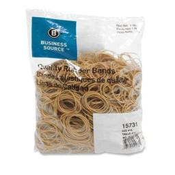 "Business Source Rubber Bands,Size 14,1 lb./BG,2""x1/16"",Natural Crepe (15731)"