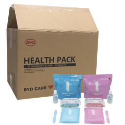 Offex Health Pack PPE Kit for Kids 6-12 Years -Includes: 1 Hand Sanitizer(500ml),Wet Wipes(30 Count),Single-Use Face Mask(10 pcs)-Case of 20