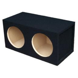Absolute USA DSS10 Dual 10-Inch 34-Inch MDF Sealed Subwoofer Enclosure with Absolute USA Logo