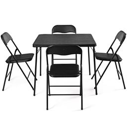 5 Piece Multi-Purpose Folding Dining KitchenTable Chair Set