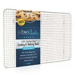 CoolingBake Stainless Steel Wire Cooling and Baking Rack Oven Safe Rust-Resistant Heavy Duty 115 x 165