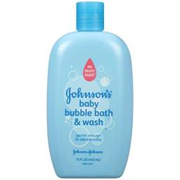 Johnsons Baby Bubble Bath & Wash 15 Ounce (6 Pack)