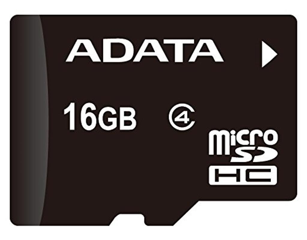 ADATA 16GB microSDHC Class 4 Memory Card with Adaptor (AUSDH16GCL4-RA1)