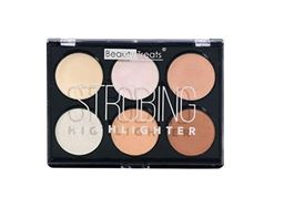 Beauty Treats Strobing Highlighter Palette Light Colors-6 Cream & Powder Shades