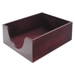 Carver Double Deep Wood Desk Tray, Letter Size, 13.25 x 11 x 5.25 Inches, Mahogany Finish (CW08213)