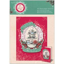 DOCrafts Papermania Bellissima Christmas A5 Decoupage Card Kit-