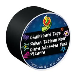 Duck Brand Chalkboard Crafting Tape, 1.88-Inch x 5-Yard Roll, Black (284877)