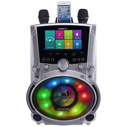 """Karaoke USA WK760 All-In-One Wi-Fi Multimedia Karaoke System With 7"""" LCD Touch Screen, Recording and Bluetooth Speaker"""