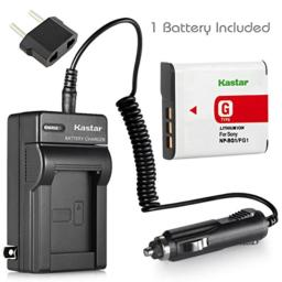 Kastar Charger with Car Adapter and Battery for Sony G Type NP-BG1 NPBG1 NP-FG1 NPFG1 Battery