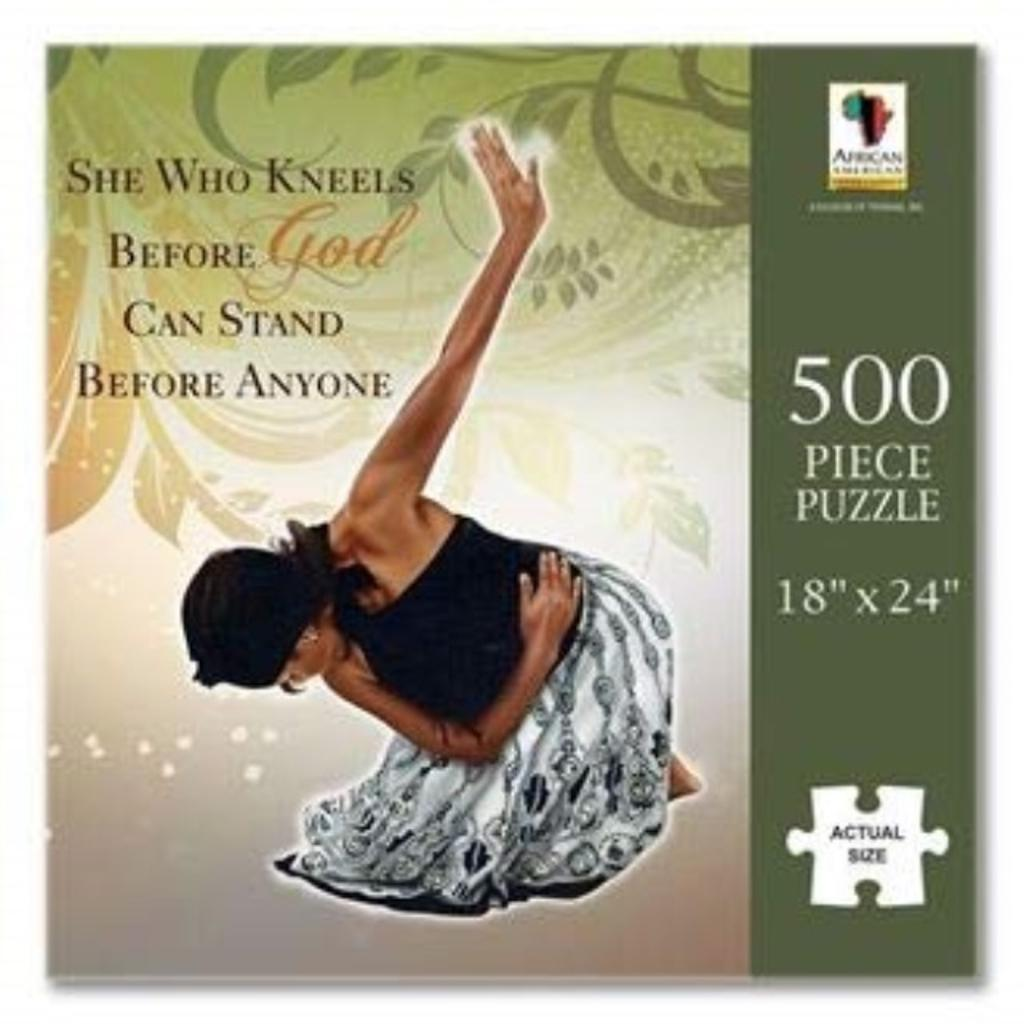 """African American Expressions - She Who Kneels Puzzle (500 Pieces, 18"""" x 24"""") PUZ- 12"""