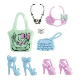 Barbie Fashionistas Glam and Sweetie Accessories: Pink & Blue Shoes