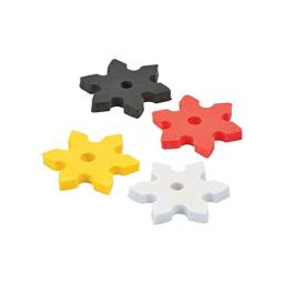 Fun Express Ninja Star Erasers (24 Piece)