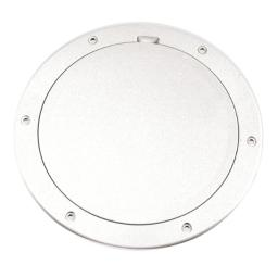"""Beckson 6"""" Smooth Center Pry-Out Deck Plate-White"""