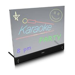 Pyle Erasable Desktop Illuminated LED Writing Board with Remote Control and 8 Fluorescent Markers (PLWB2030)