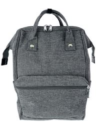 5th Elm Double Zipper Backpack for Back to School - Grey
