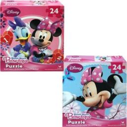 Disney Minnie Mouse Bowtique 24Piece Puzzle - Assorted Styles, Multicolor