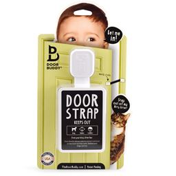 Door Buddy® Baby Proofing Door Strap | Lets Cats in | Keeps Babies Out | Baby proof your cat's litter box without a baby gate! Caramel Strap