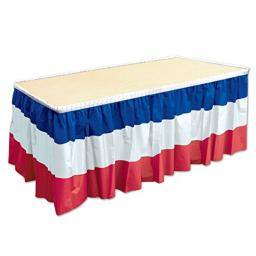"Beistle, Red/White/Blue 52170-RWB Patriotic Table Skirting, 29"" x 14', One Size"