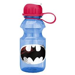 Zak Designs DC Comics Batman Kids Water Bottle with Straw and Built-in Carrying Loop, Durable Water Bottle Has Wide Mouth and Break Resistant Design is Perfect for Kids (14oz, Tritan, BPA-Free)