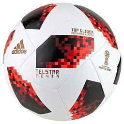 adidas World Cup KO Top Glider Soccer Ball- White/Red 5
