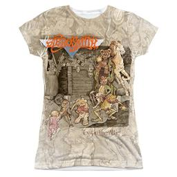 Toys in the Attic Aerosmith All-Over Front Print Juniors T-Shirt Size Medium
