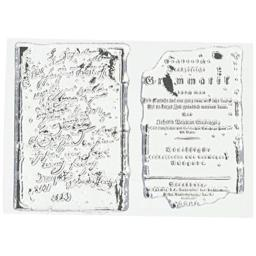 """49 and Market Pascale's Grammer Clear Stamps 3""""X4"""""""