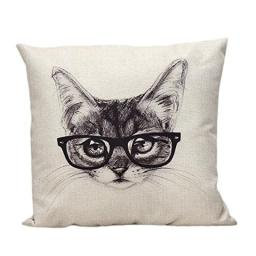 Mandy Linen Square Throw Flax Pillow Case Decorative Cushion Pillow Cover by Mandy-Pillow