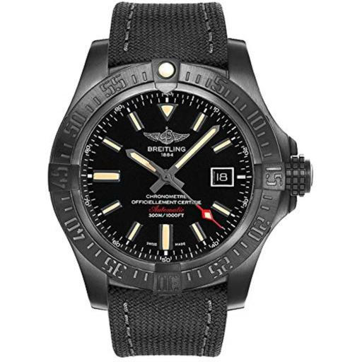 Breitling Avenger BlackBird Mens Watch V1731010/BD12-100W Avenger Blackbird Anthracite Military V1731010/BD12/100W/M20BASA.1*Movement: Selfwinding mechanical*Caliber: Breitling 17*Case Diameter: 48mm*Case Thickness: 14.2mm