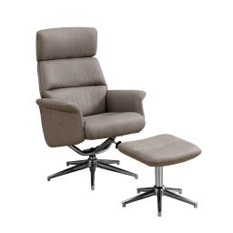 Offex Modern 2Pc Reclining Chair and Ottoman Set - Taupe