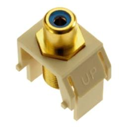 Legrand - On-Q WP3464LA Blue RCA to FConnector Light Almond