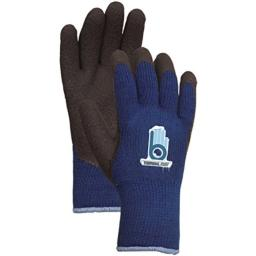 Bellingham C4005XXL Extra Heavy-Duty Insulated Thermal Knit Work Glove, Heavy-Duty Acrylic Liner and Black Rubber Palm, XX-Large, Blue