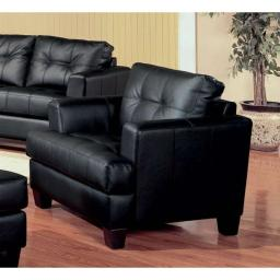 Leather Upholstered Sofa Chair, Black