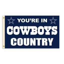Fremont Die NFL Flag with Grommets, Dallas Cowboys, In Country